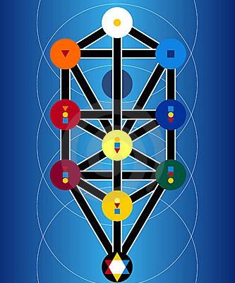 símbolos-judaicos-do-cabala-no-fundo-azul-10737280