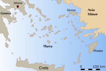 Creta e Thera - centro da Civilização mercante Minóica