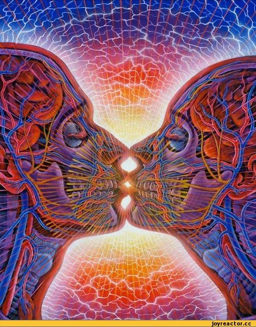 alex-grey-красивые-картинки-психоделика-поцелуй-642096